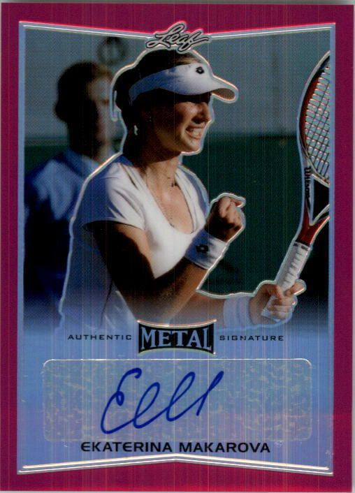Item specifics     Brand:   Leaf Metal    Period:   Modern (1970-Now)     Card Attributes:   Autograph, Serial Numbered   Product:   Single     Card Manufacturer:   Leaf Trading... - https://lastreviews.net/sports-fitness/tennis/2016-leaf-metal-tennis-pink-baem1-ekaterina-makarova-auto-10/