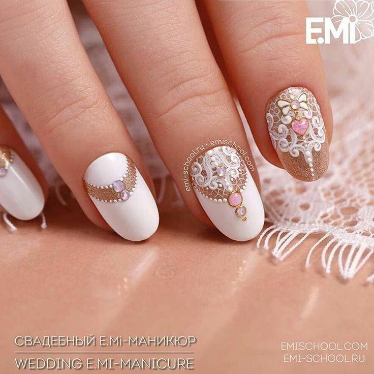"""64 Likes, 2 Comments - Emi School Полтава (@emischool_poltava_) on Instagram: """"Скоро сезон свадеб! #свадьба #свадебныйдизайн #свадебныеногти #emischool #nails #маникюрполтава…"""""""