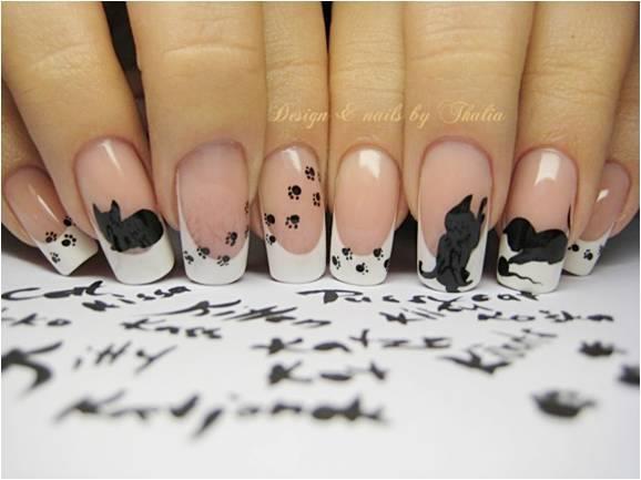 No me gustan las uñas largas pero éstas... Tienen un pase. ;)
