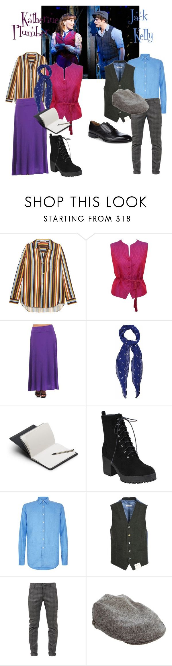 """Contemporary: Newsies"" by rebconnell ❤ liked on Polyvore featuring Acne Studios, Burberry, Avital, Bellroy, Canali, John Sheep, Dondup, Philip Treacy, Allen Edmonds and contemporary"