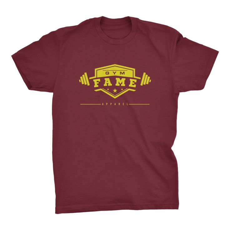 Gym Fame Classic Tee Cardinal Red/Gold