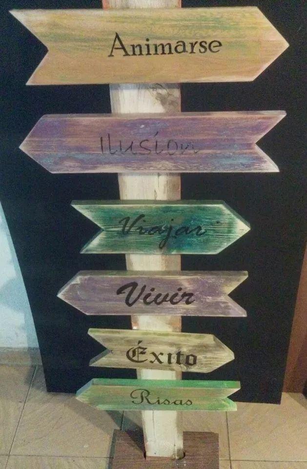 carteles   en madera recuperada   vintage