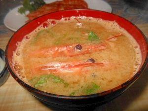 エコで~赤海老お頭の味噌汁