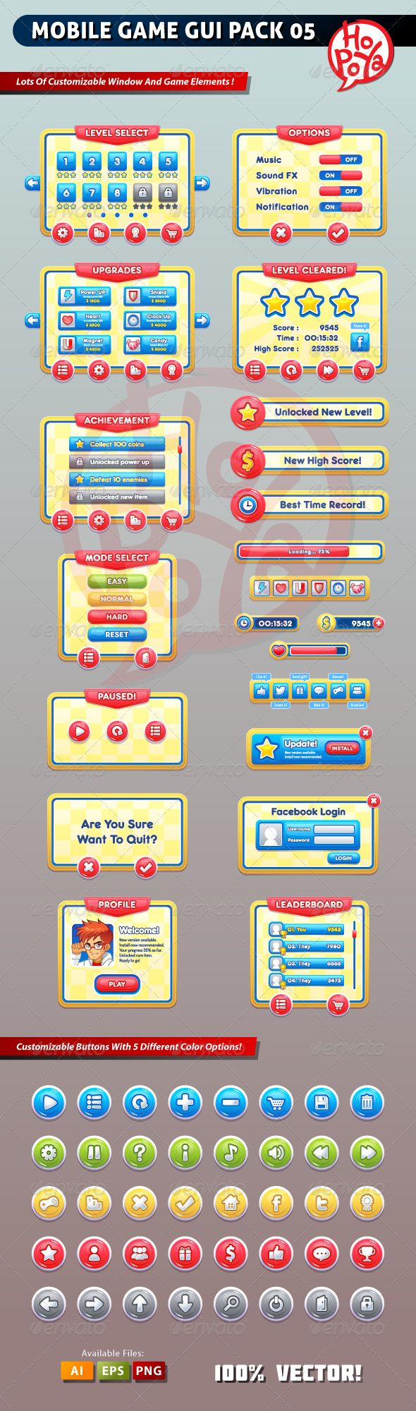Mobile Game GUI Pack 05