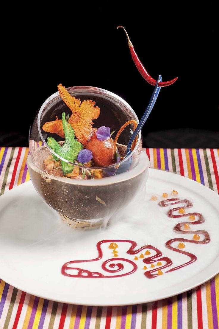 Prepara este exquisito ceviche vampiro con el esplendor del mango, que la chef Martha Ortiz nos compartió. ¡Te encantará!