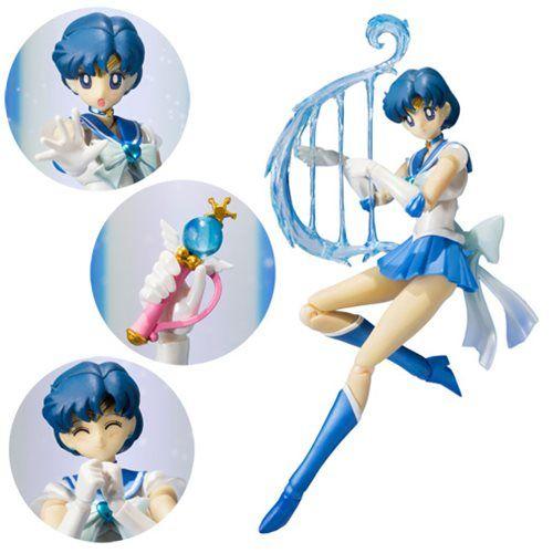 Sailor Moon Super Sailor Mercury SH Figuarts Action Figure - Bandai Tamashii Nations - Sailor Moon - Action Figures at Entertainment Earth