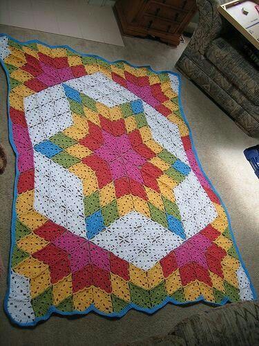 32 Best Afghans Tumbling Blocks Crochet Images On