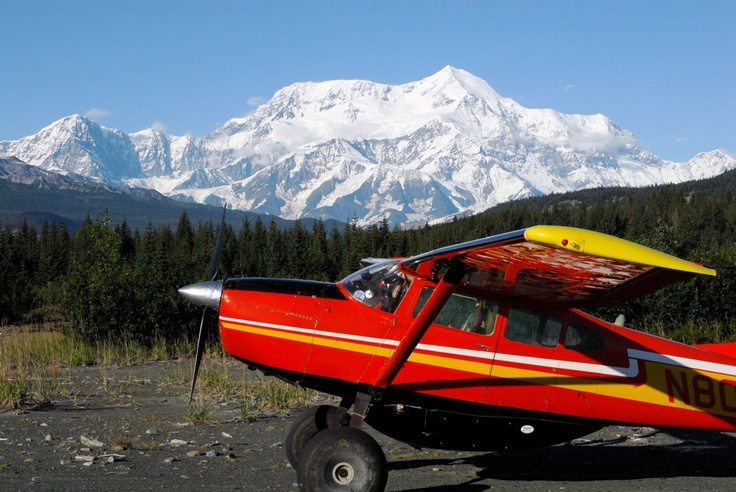 Cessna 185 in Alaska.  Piloted by John and Paul Claus