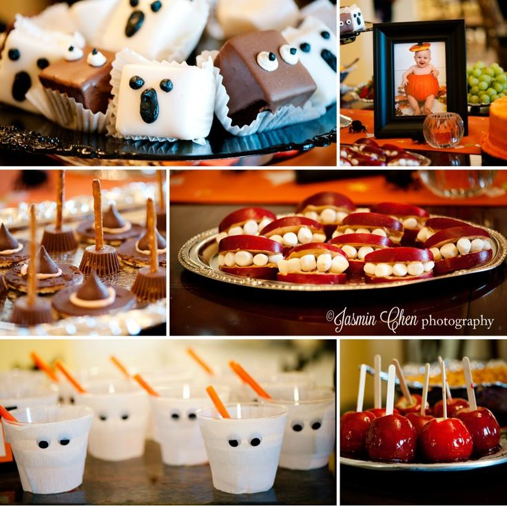 halloween treats made by sister for babies first birthday halloween carnival - Halloween Birthday Ideas