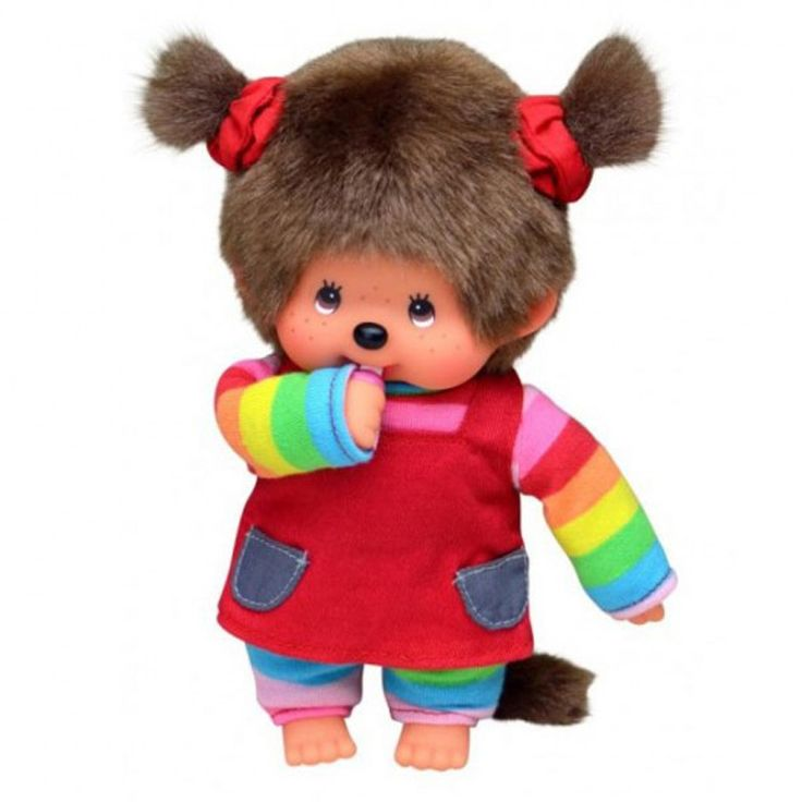 Monchhichi Doll - Rainbow Tee and Red Jumper Skirt – Shorties Childrens Store