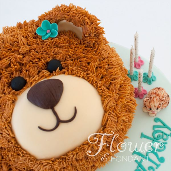 Cake Design Teddy Bear : Teddy Bear Birthday Cake with Modelling chocolate kitten ...