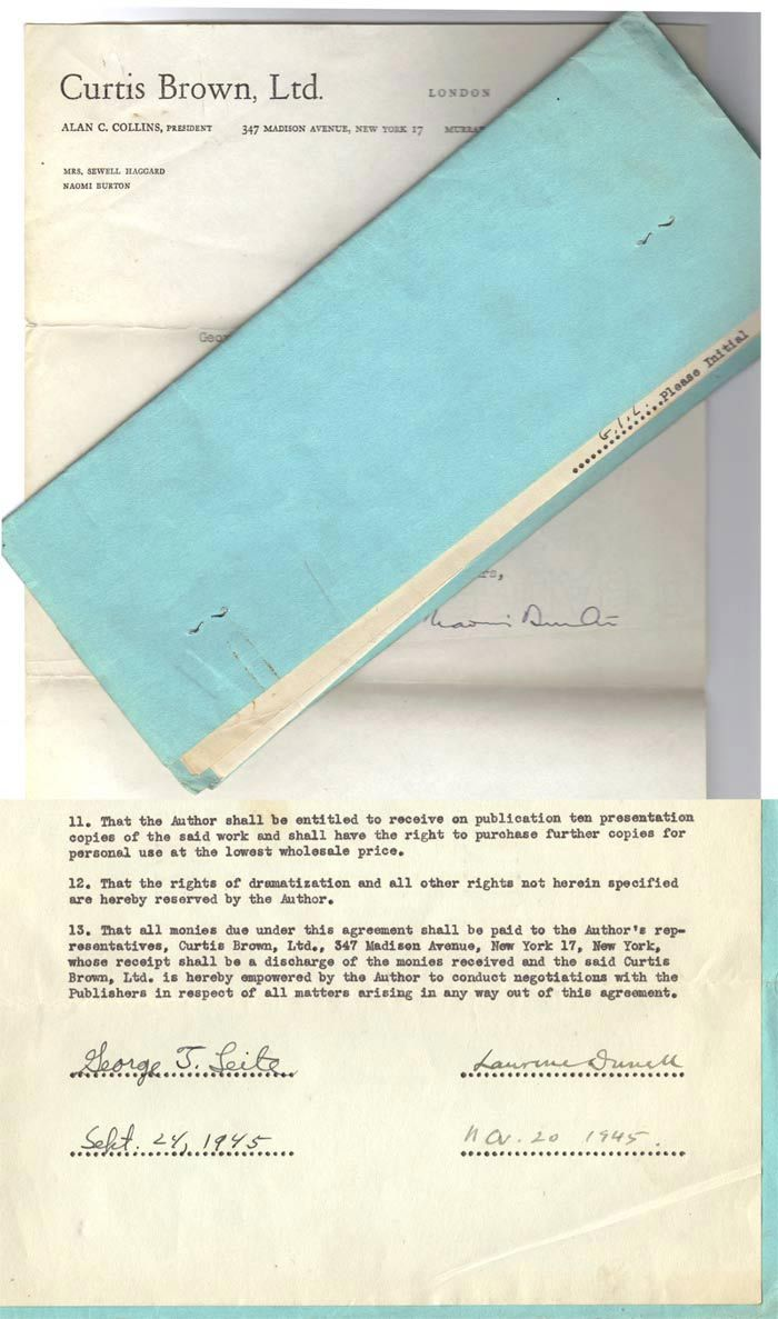 Original Contract By Durrell Lawrence From Tbcl The Book