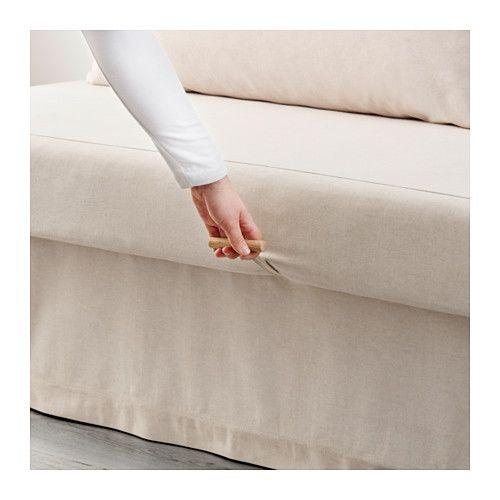 HIMMENE Sofa bed, Lofallet beige - Lofallet beige