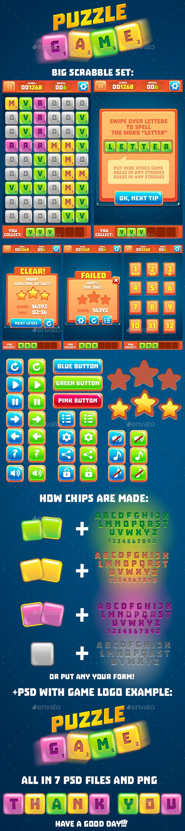 Words Puzzle Game Set with GUI (Full Version)