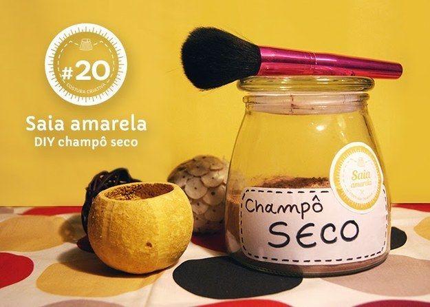 Crie seu próprio shampoo seco! | 20 receitas caseiras de beleza para testar no fim de semana