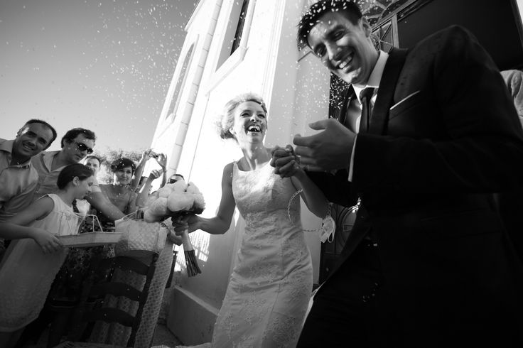 Happily in love newlyweds