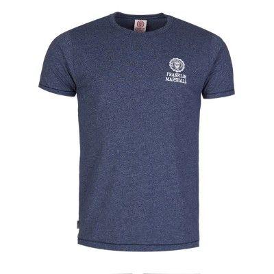 Franklin & Marshall Blue Marl Logo T-Shirt