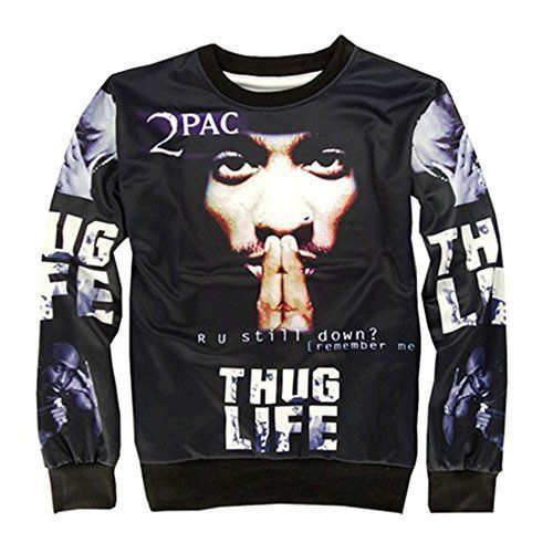 "(My review of CHIC Women Men Hip Hop 2PAC Hoodies Pullover Sweatshirt 3D Clothing T Shirt) -  Chic Stylish fashion Sweatshirts Clothing SIZE (S) / Chest 92cm(36.3"") Shoulder 42cm(16.5"") Sleeve 58cm(22.8"") Length 63cm(24.8"") SIZE (M) / Chest 98cm(38.5"") Shoulder 44cm(17.3"") Sleeve 60cm(23.6"") Length 66cm(26.0"") SIZE (L) / Chest 102cm(40.1"")..."