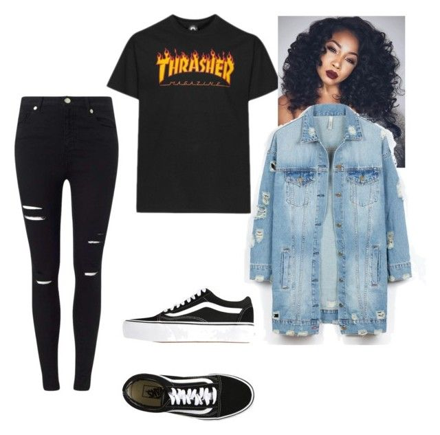 Thrasher outfit | Thrasher Vans and Polyvore