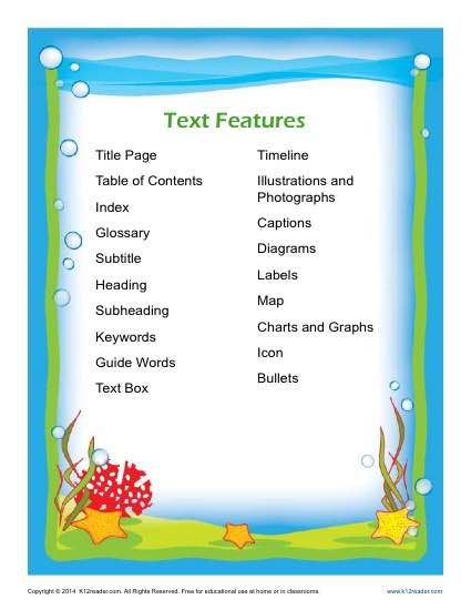 glossary for children text feature book nonfiction text features 2nd grade resources pinterest features text features and