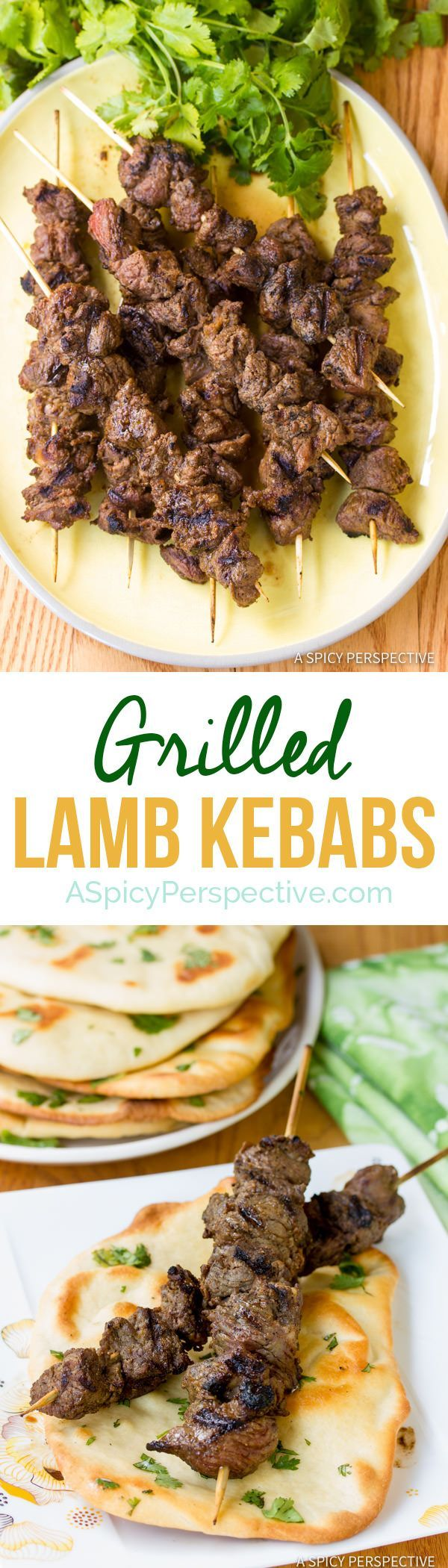 """Perfect """"Street Meat"""" Grilled Lamb Kebabs   ASpicyPerspective.com"""