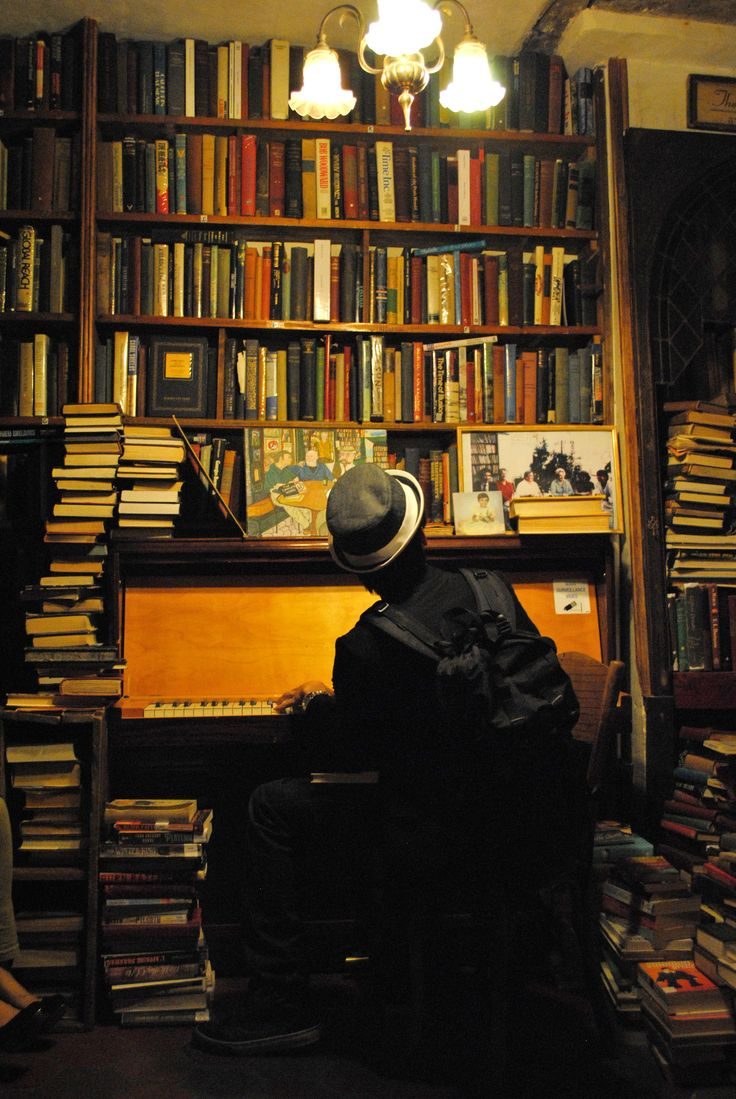 Random guy playing the piano inside Shakespeare and Co. in Paris.