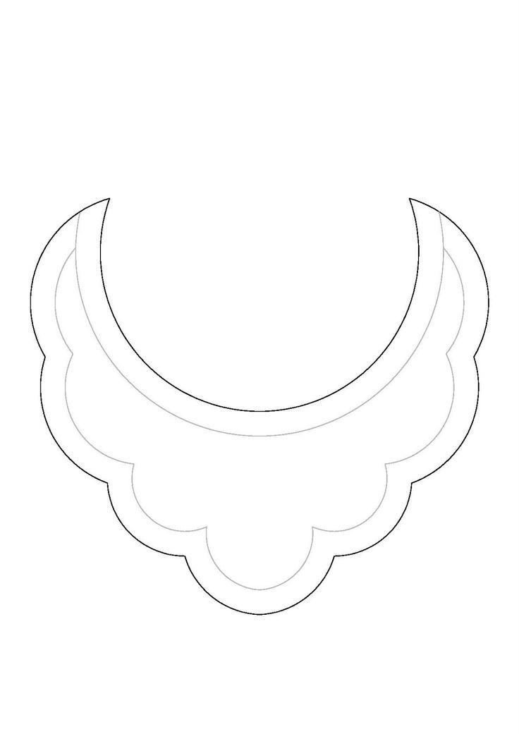 DIY Patrón collar babero / Bib necklace pattern