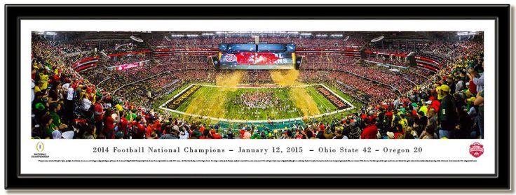 MyTeamPrints.com - 2015 CFP Championship Celebration Framed Panoramic Print, $129.00 (https://www.myteamprints.com/2015-cfp-national-champions-celebration-framed-print/)