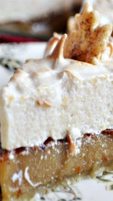 Maple Brown Sugar Cream Pie with Brown Sugar Meringue