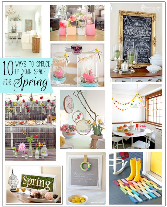 10 Ideas To Spruce Up Your Space For Spring So Cute