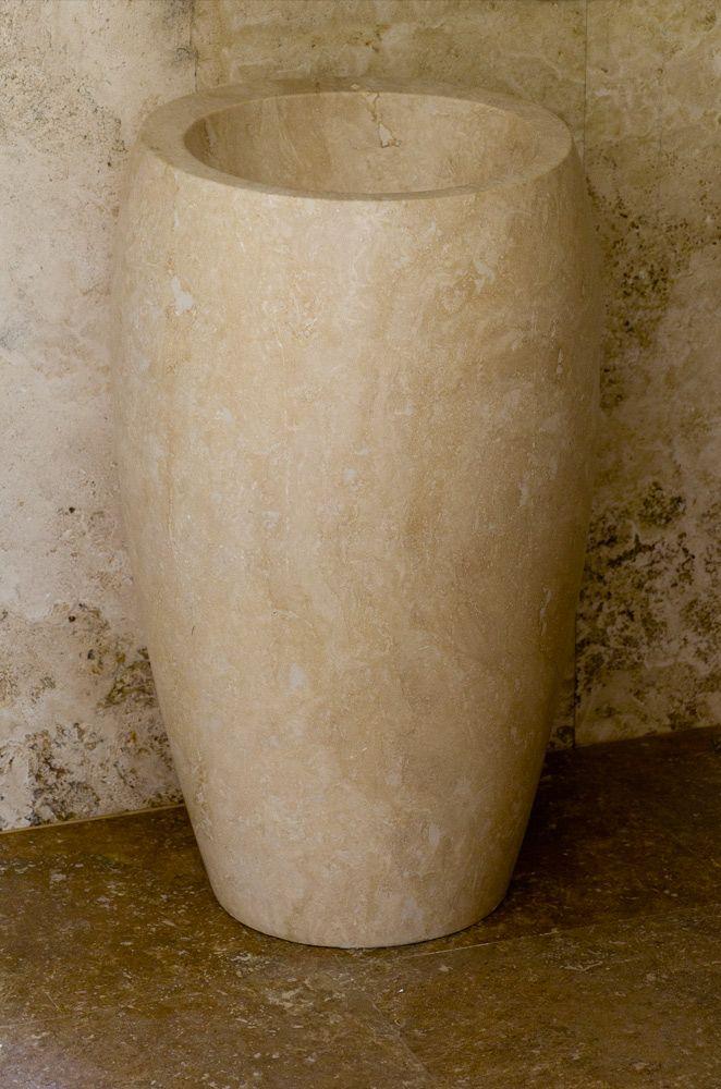 Corno: lavandino a colonna in pietra | Pietre di Rapolano Shop
