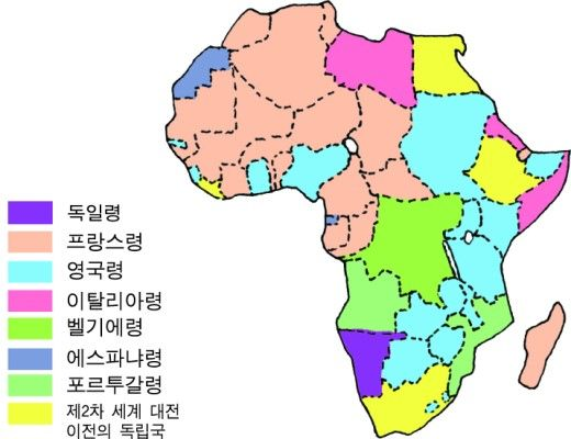 제국주의 시대 식민지 지도