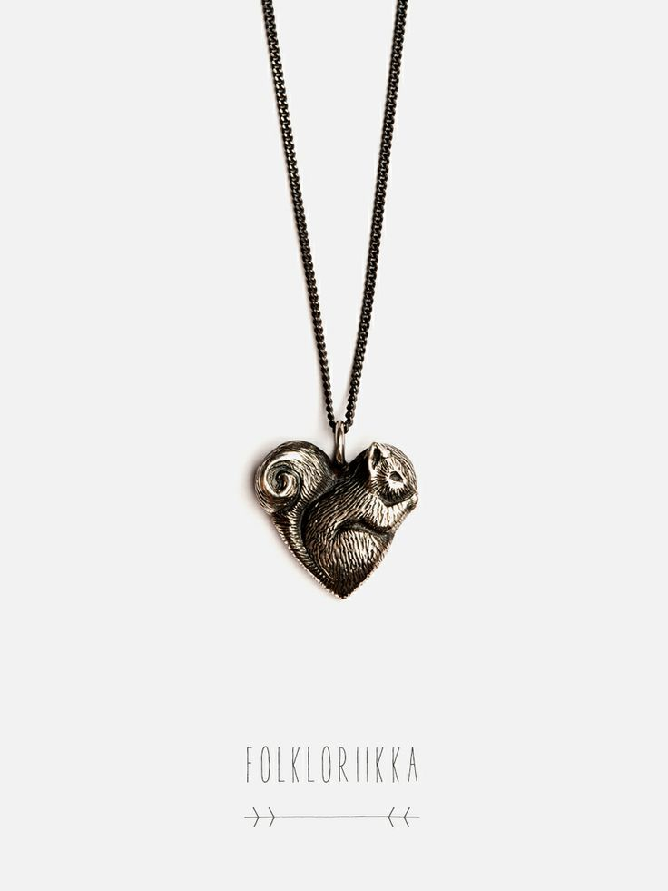 Squirrel Pendant - The Familiars by Folkloriikka