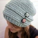 Ups and Downs Crochet Slouchy Beanie...free pattern!