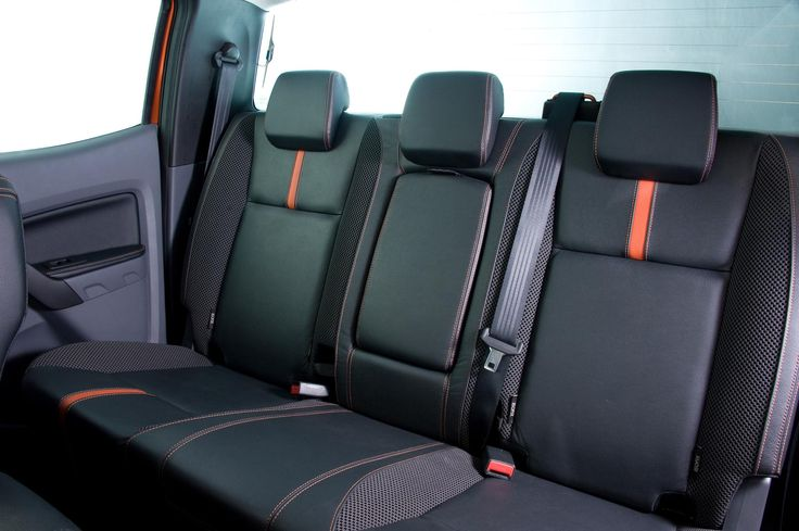 Ford Ranger Xlt Black And Red Interior Diamond Stitch