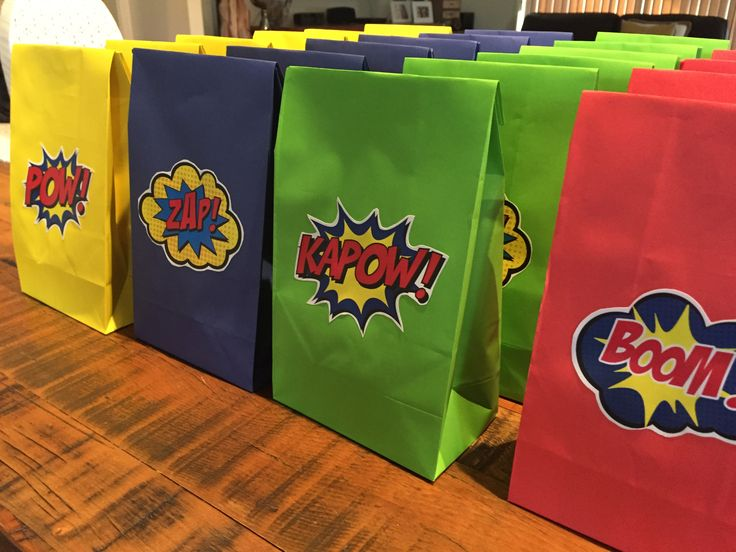 Superhero Lolly Bags Made by Mandy Clouten