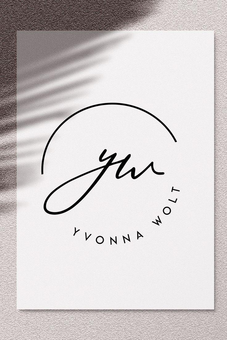 Signature Logo, Initials Logo Design, Blogger Logo, Submark Logo, Simple Logo Design