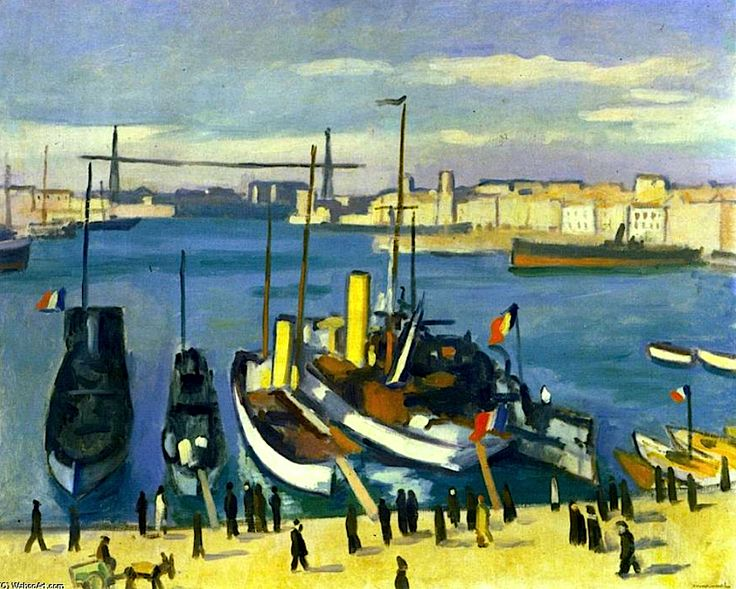 The Old Port, Marseille, by Albert MARQUET