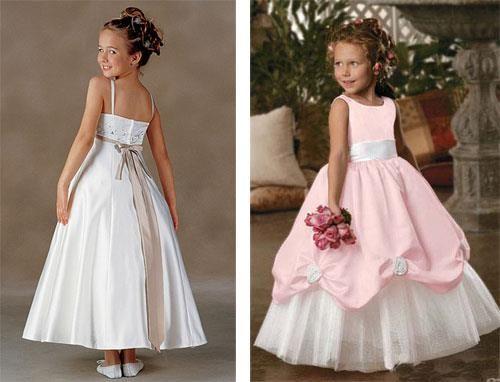 Свадевные платье для девочек