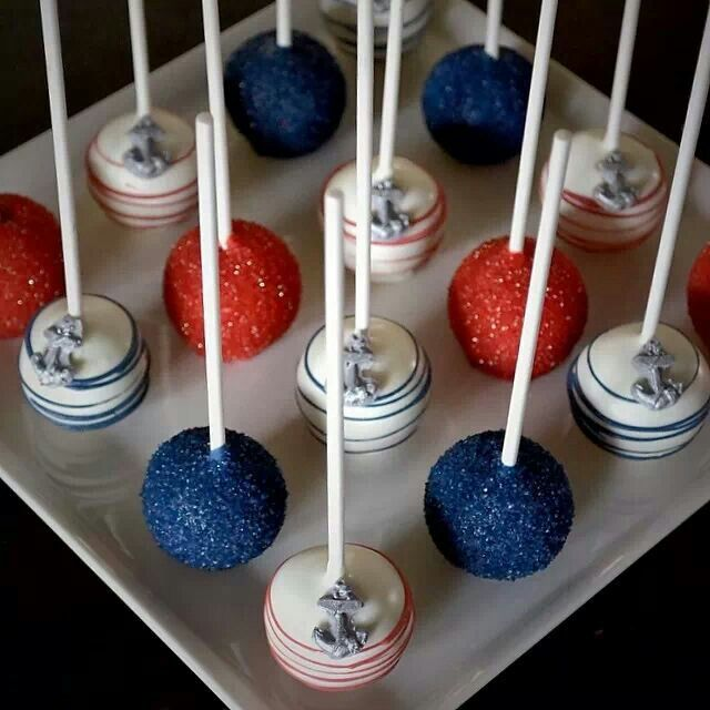 Nautical pops ~ Cake Poppin