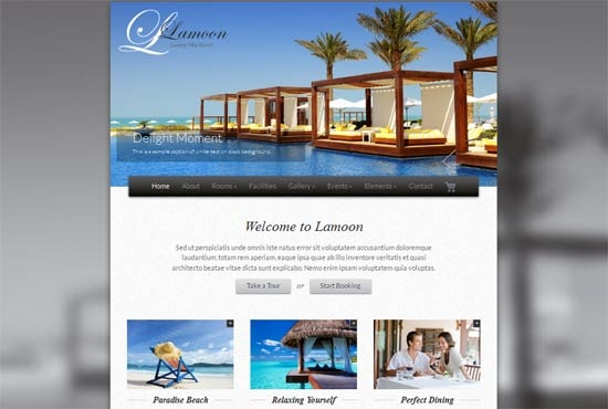Lamoon Responsive Resort And Hotel Website Templates