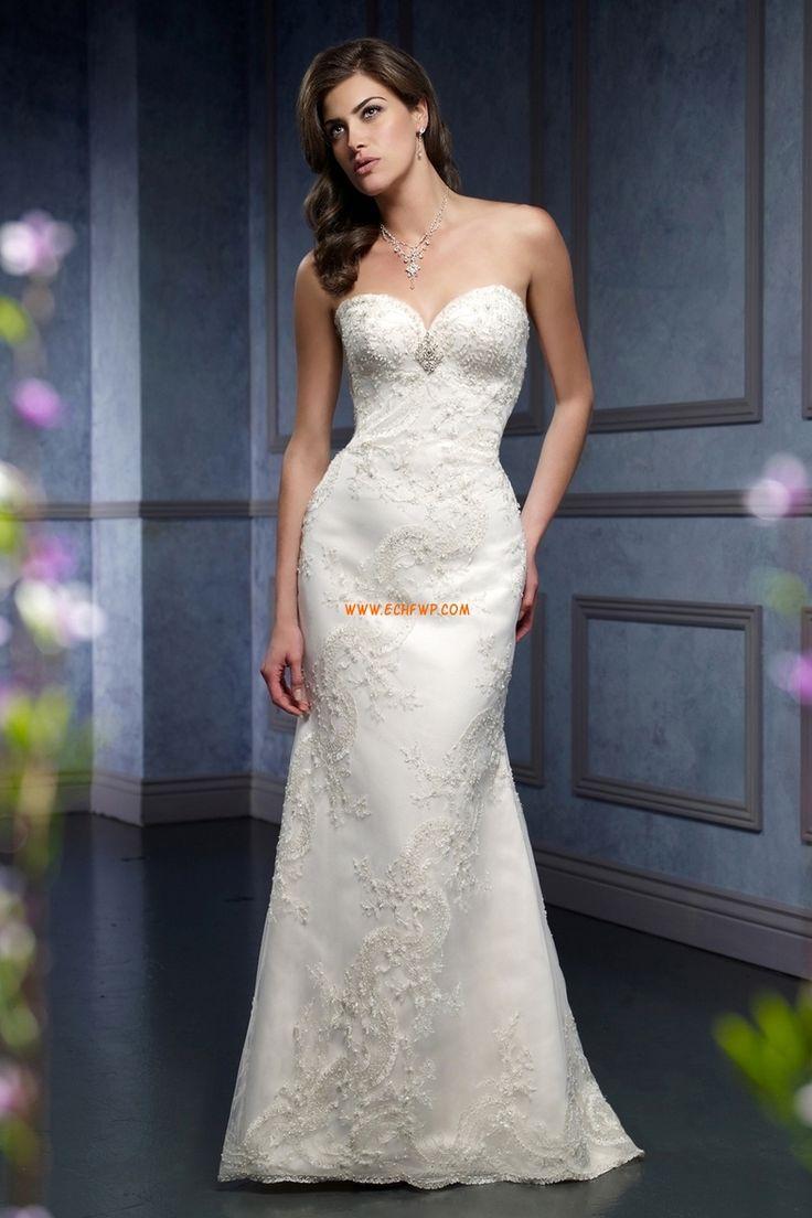 A-linje Vår 2014 Ärmlös Lyx Bröllopsklänningar