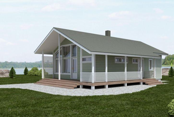 Valoisat ja korkeat oleskelutilat – Onkiniemi: 77 m², 2 makuuhuonetta