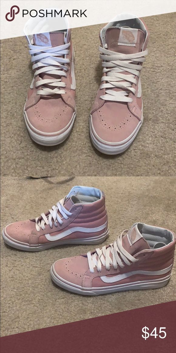 Pink Vans High Tops Only worn a couple of times! Vans Shoes Sneakers – #Couple #…
