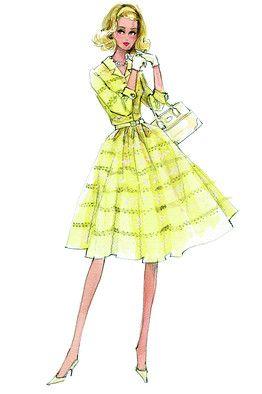 Sweet: Colors Patterns, Robert Best Barbie, Vintage Barbie, Barbie Sketch, Drawings Barbie Robert Best, Barbie Illustrations, Fashion Drawings, Fashion Illustrations, Fashion Sketch