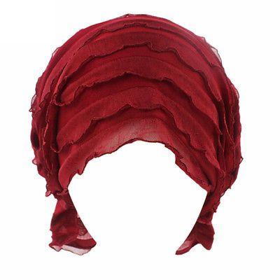 Женский шифоновый гофрированный химиотерапии шапка шапочка шарф бандана тюрбан кепка банданы