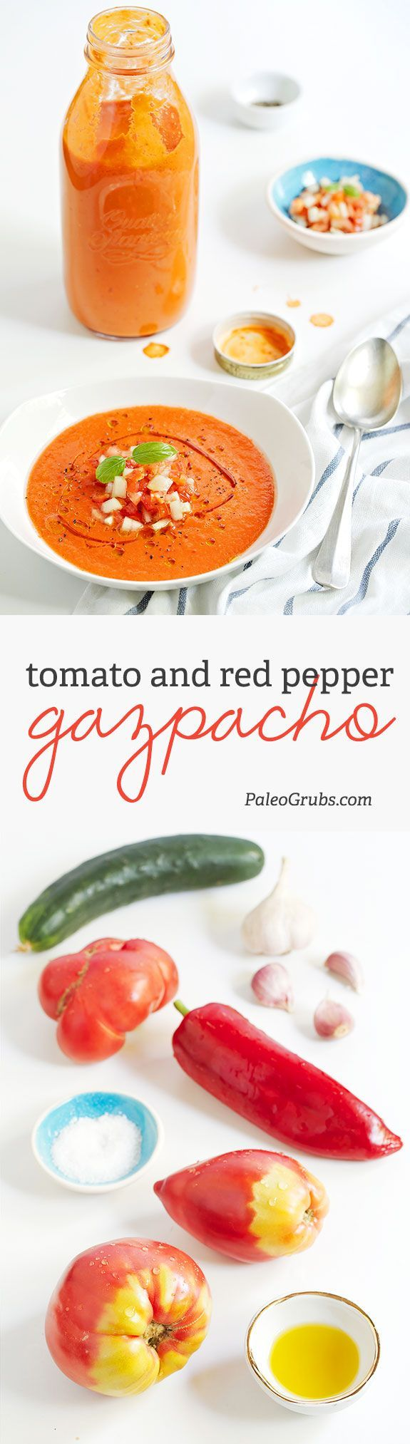 You won't believe the incredible flavor of our gazpacho! Bursting with fresh tomatoes and cucumbers and garnished just right, it's the perfect answer to hot summer temps.