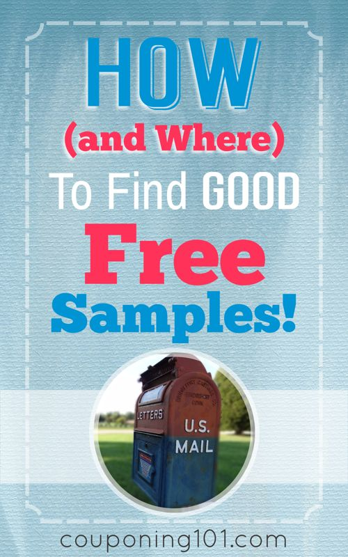 How and where to find GOOD free samples!! Great tips for finding freebies!!
