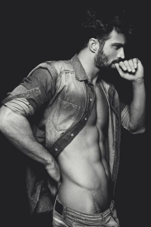 #HunkDay Bearded David pose from the side - never goes outta style!