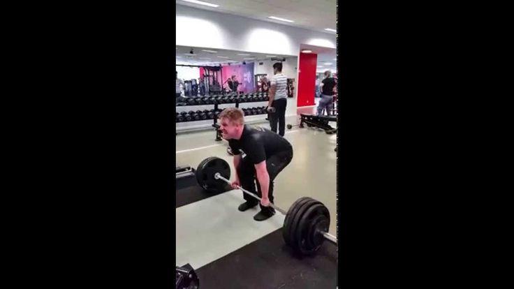 Deadlift/Markløft: 185 kg x 2 reps. No belt. Andre Gangvik.